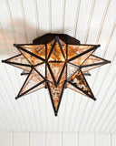 Morovian Star - Flush Ceiling Mount