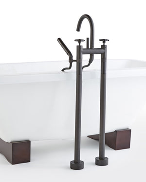 Tolson Floor Mounted Tub Filler with Hand Shower