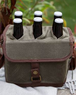 Waxed Canvas Beer Caddy