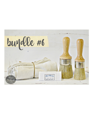 Bundle #6 Wax Brush Bundle by Milk Paint