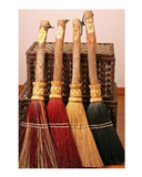 Shaker Flat Carved Hearth Broom by Scheumack Broom