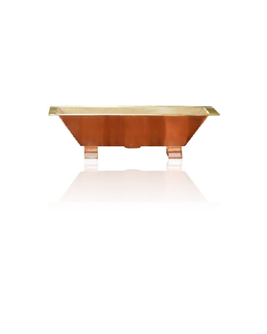"24"" Brushed Natural Copper Trough Sink"