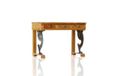 Post Modern Farmhouse Handmade Reclaimed Wood & Metal Chippendale Silhouette Stand