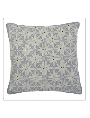Fiesta Grey Pillow by Allem Studio