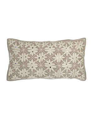 Fiesta Tan Lumbar Pillow by Allem Studio
