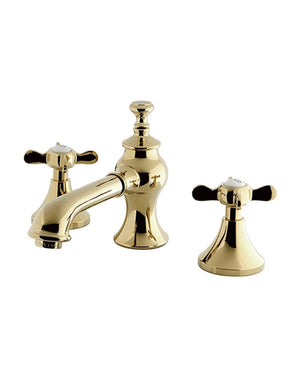 Kingston Brass 8-Inch Widespread Lavatory Faucet, Polished Brass