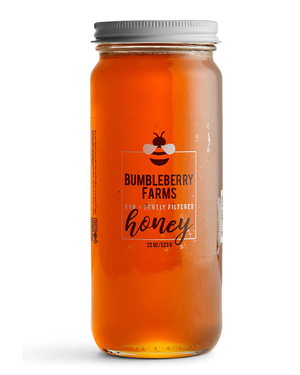 Raw + Gently Filtered Honey by Bumbleberry Farms