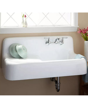 Cast Iron Sink with a Drainboard