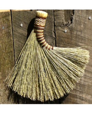 Fanned Turkey Wing Whisk Broom by BrenWood