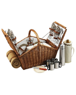 Woven Willow Picnic Basket