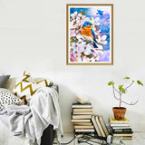 2 Pack 5D Diamond Painting Blue and Red Bird 30x40cm (12x16 inch)