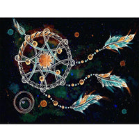 5D Diamond Painting dreamcatcher Paint with Diamonds Art Crystal Craft Decor AH1326