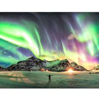5D Diamond Painting aurora Paint with Diamonds Art Crystal Craft Decor AH1728