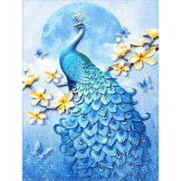 5D Diamond Painting peacock Paint with Diamonds Art Crystal Craft Decor AH1852