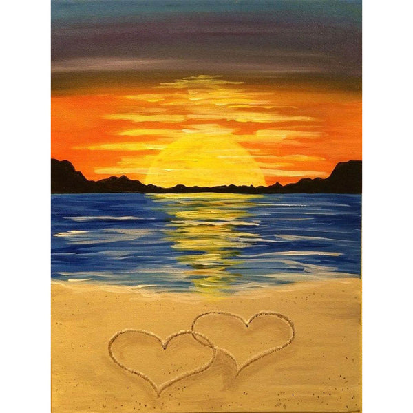 5D Diamond Painting seaside scenery beach Paint with Diamonds Art Crystal Craft Decor AH1556
