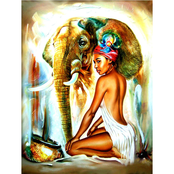 5D Diamond Painting african woman Paint with Diamonds Art Crystal Craft Decor AH1409