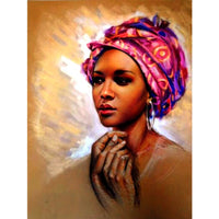 5D Diamond Painting african woman Paint with Diamonds Art Crystal Craft Decor AH1385