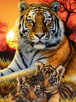 5D Diamond Painting tiger Paint with Diamonds Art Crystal Craft Decor AH1974