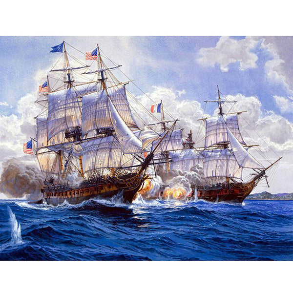5D Diamond Painting boat sailing Paint with Diamonds Art Crystal Craft Decor AH1347