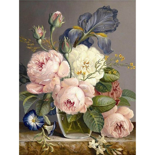 5D Diamond Painting flower Paint with Diamonds Art Crystal Craft Decor AH1645