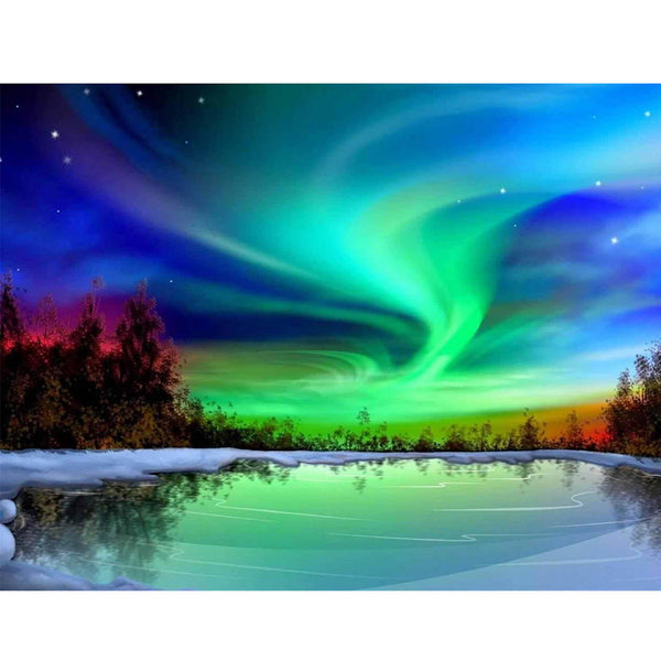 5D Diamond Painting aurora Paint with Diamonds Art Crystal Craft Decor AH1704