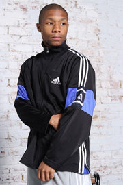 Vintage Adidas Track Embroidered Logo 3 Stripe Jacket Black