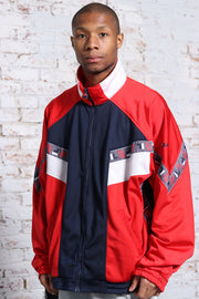 Vintage Fila Track Tape Logo Jacket Red