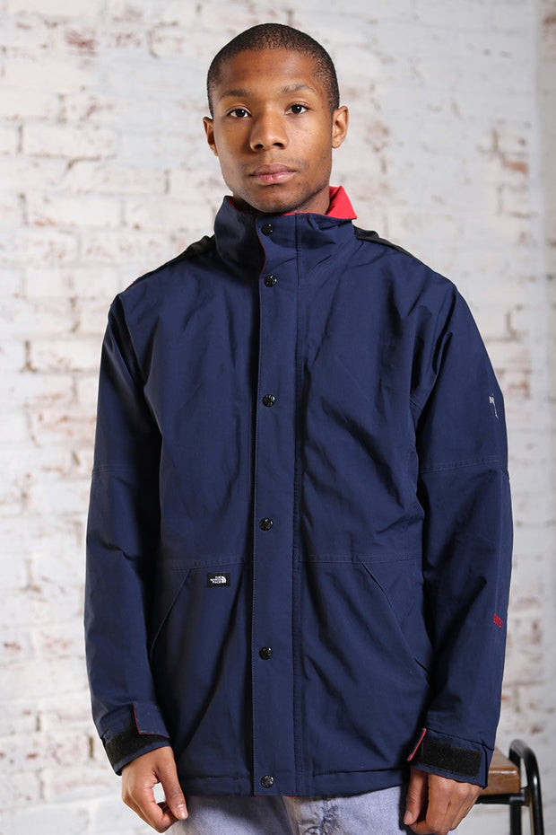 Vintage The North Face Waterproof logo Jacket Blue