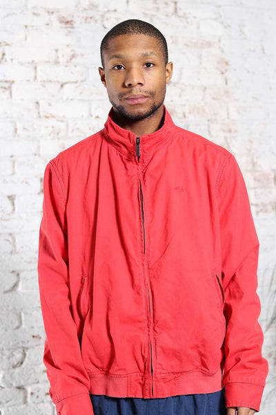 Vintage Lacoste Logo Heavy Cotton Jacket Red