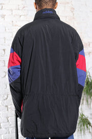 Vintage Adidas Embroidered Logo Quilted Jacket Black