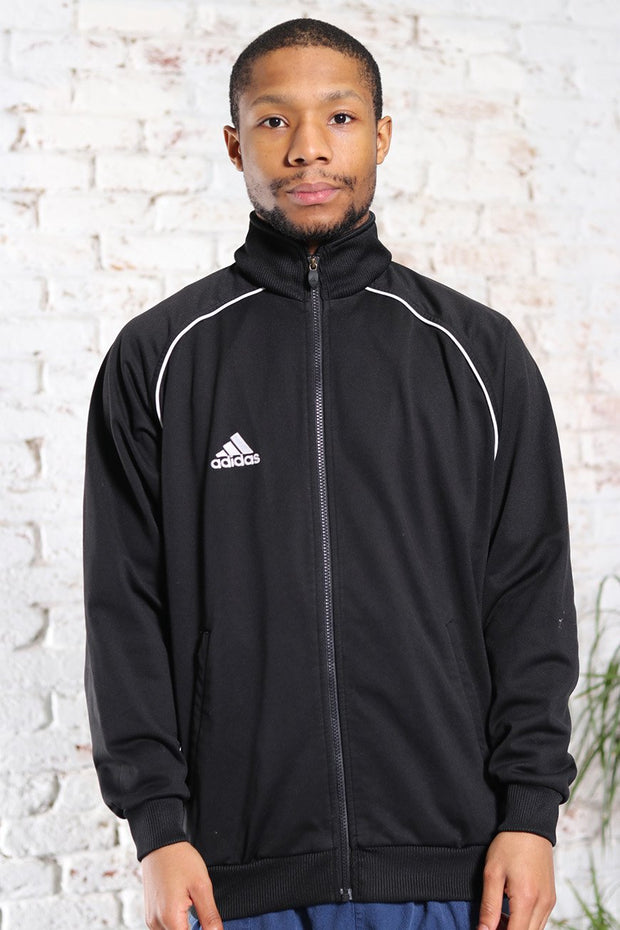 Vintage Adidas Track Embroidered Logo Jacket Black