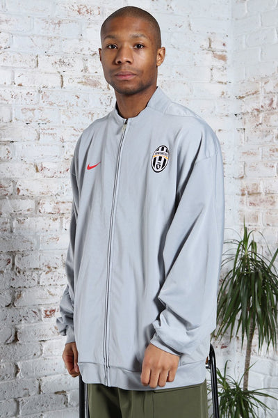 Vintage Nike Track Juventus Football Logo Jacket Grey