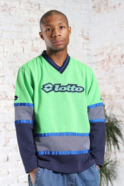 Vintage Lotto Embroidered Logo Sweatshirt Green