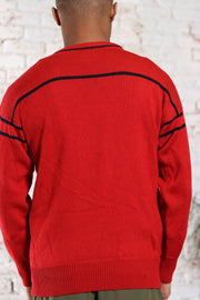 Vintage Fila Logo Jumper Red