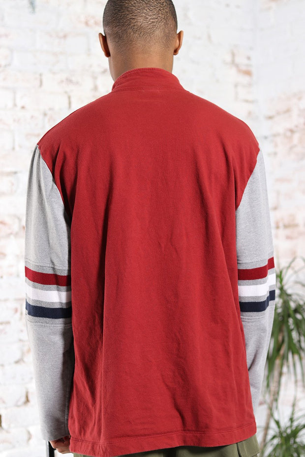 Vintage Fila Embossed Logo Sweatshirt Red