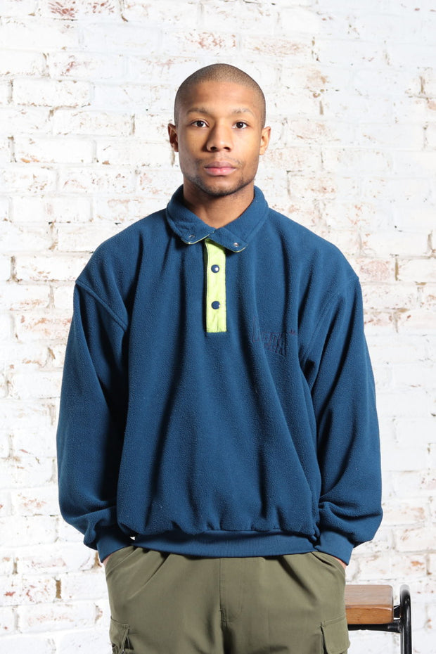 Vintage Kappa Embroidered Logo Fleece Blue