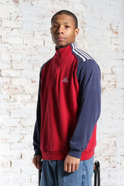 Vintage Adidas Embroidered Logo Sweatshirt Red
