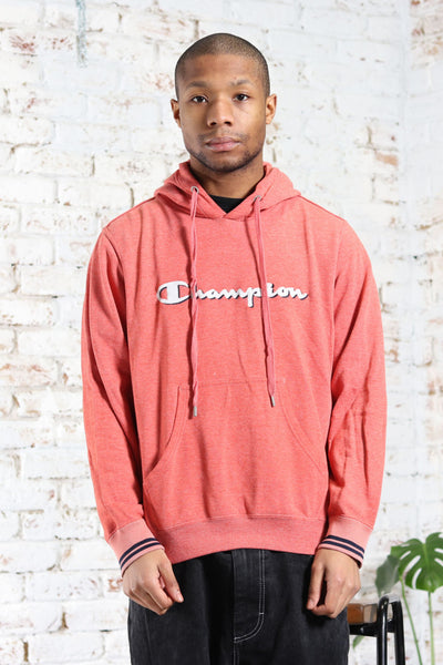 Vintage Champion Big Logo Hoodie Orange
