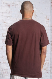Vintage Timberland Big Print Logo T-Shirt Brown