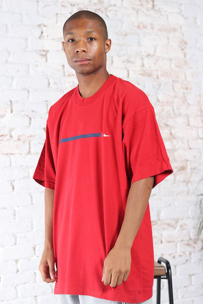 Vintage Nike Logo T-Shirt Red