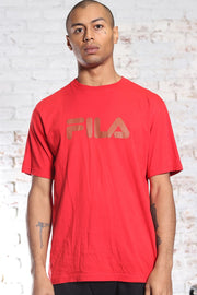 Vintage Fila Big Logo Spellout T-Shirt Red