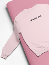 Load image into Gallery viewer, PINK 'GO GET IT GIRL' SWEATSHIRT