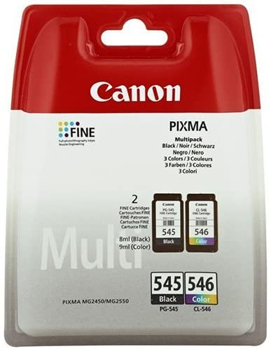 Canon PG-545 CL- 546 Original Ink Cartridge, Black, Cyan, Magenta, Yellow