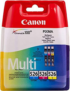 Canon CLI-526 (4541B006) Ink Cartridges Cyan Magenta Yellow Multipack