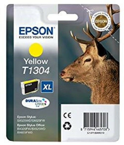 Epson Original T1304 STAG Ink Cartridge High Capacity 10ml  Yellow C13T13024010