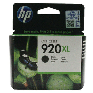 HP 920XL Black CD975AE Genuine Original Ink Cartridge VAT INVOICE 6000 6500 7500