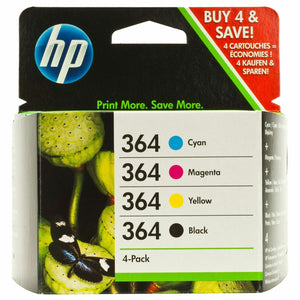 HP 364 Original Inks Cartridges 4 Pack Black Yellow Magenta SD534EE hp364 5510