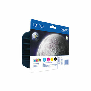 Brother LC1000 Genuine/Original Ink Cartridges 4 COLRS Black,Cyan,Magenta,Yellow