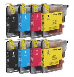 8 Non-OEM Ink Cartridges For Brother DCP-J125 J315W J515W J140W MFC-J265W J220
