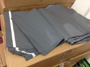 "100 x X-LARGE Grey Mailing Bags 23 x 28""  Inches 584x711mm Strong Postal XL Big"